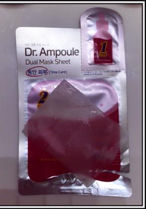 dr ampoule time dual sheet mask