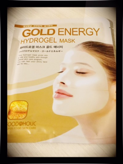 Foodaholic gold energy hydrogel mask